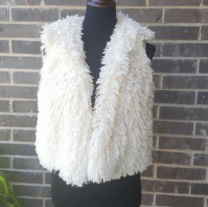 NWT Amanda Charles Ivory Fur Vest - M